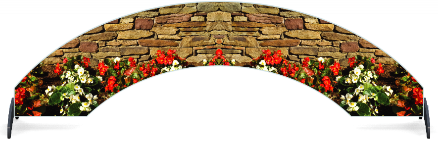 Fillers > Arch Filler > Flowerbed Wall