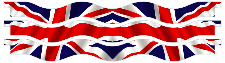 Planks > Wavy Plank x 3 > United Kingdom Flag