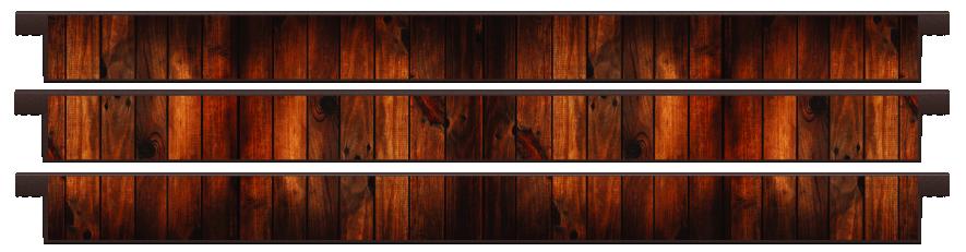 Planks > Straight Plank x 3 > Dark Wood