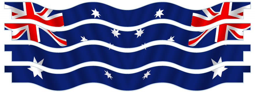 Planks > Wavy Plank x 4 > Australian Flag