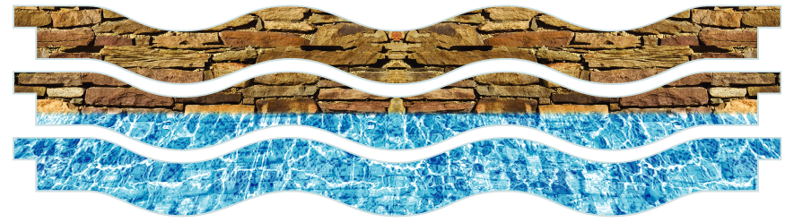 Planks > Wavy Plank x 3 > Wall And Pool