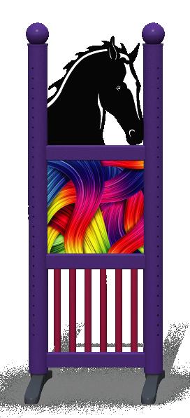 Wing > Combi Horse Head > Rainbow Ribbons