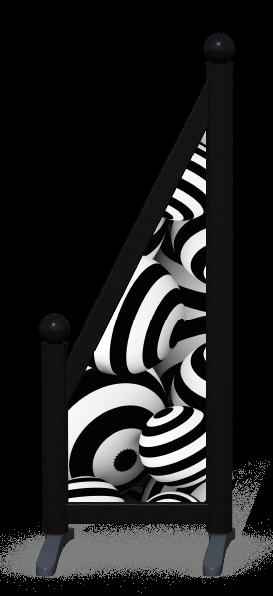 Wing > Sloping Printed > Striped Circles