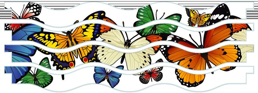 Planks > Wavy Plank x 4 > Butterflies