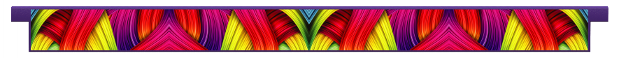 Planks > Straight Plank > Rainbow Ribbons