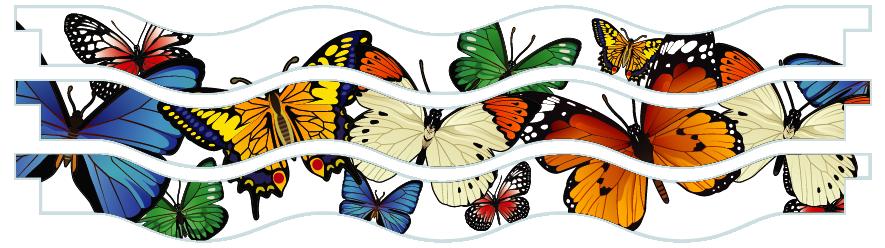Planks > Wavy Plank x 3 > Butterflies