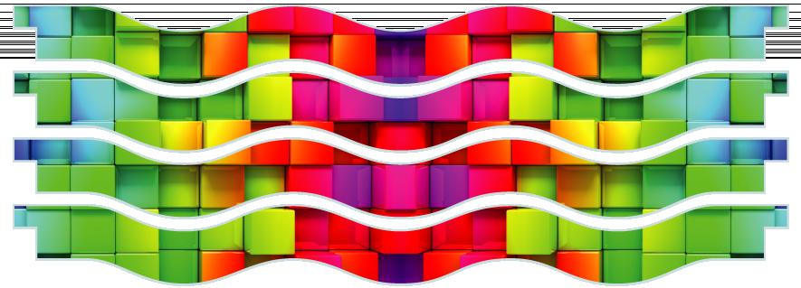Planks > Wavy Plank x 4 > Rainbow Cubes