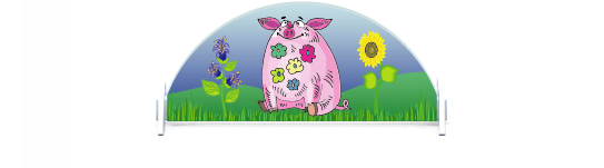 Fillers > Half Round Filler > Pigs