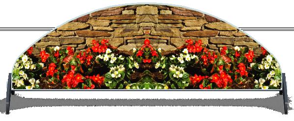 Fillers > Half Moon Filler > Flowerbed Wall