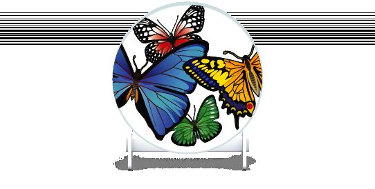 Fillers > Round Filler > Butterflies