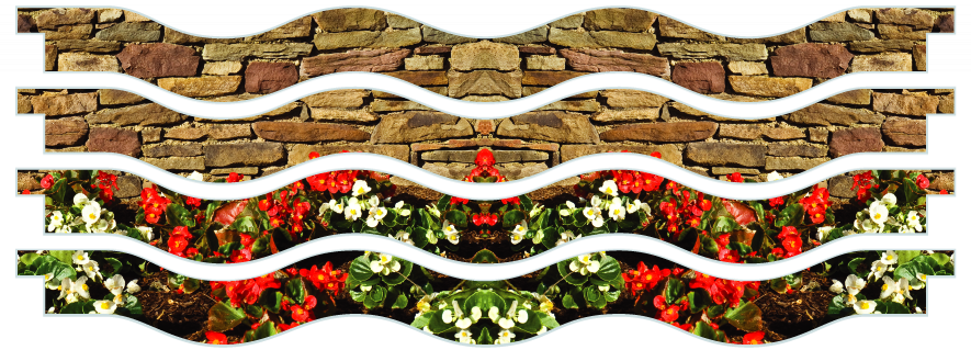 Planks > Wavy Plank x 4 > Flowerbed Wall