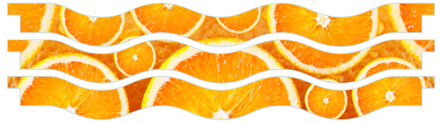 Planks > Wavy Plank x 3 > Oranges
