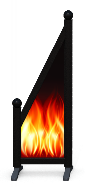 Wing > Sloping Printed > Fire
