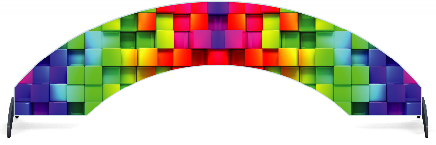 Fillers > Arch Filler > Rainbow Cubes
