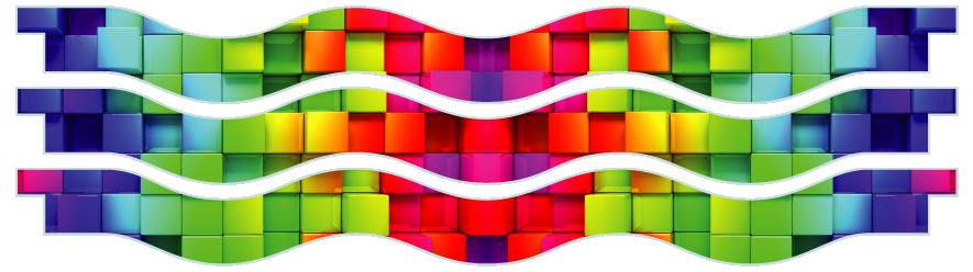 Planks > Wavy Plank x 3 > Rainbow Cubes