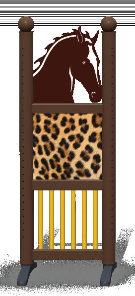 Wing > Combi Horse Head > Leopard Skin