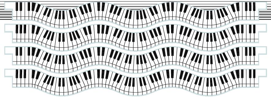 Planks > Wavy Plank x 4 > Piano Keys