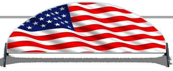 Fillers > Half Moon Filler > American Flag