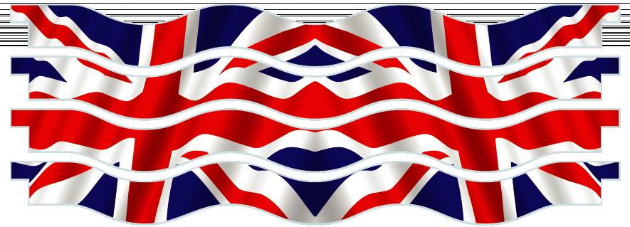 Planks > Wavy Plank x 4 > United Kingdom Flag