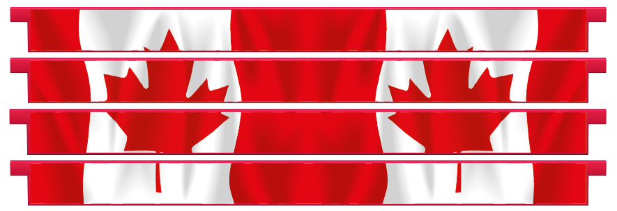 Planks > Straight Plank x 4 > Canadian Flag