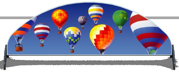 Fillers > Half Moon Filler > Hot Air Balloons