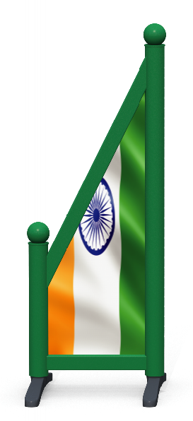 Wing > Sloping Printed > Indian Flag