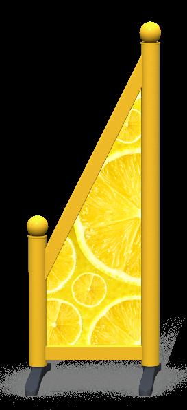 Wing > Sloping Printed > Lemons