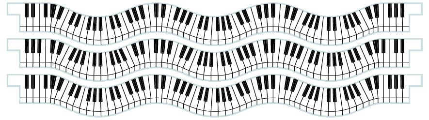 Planks > Wavy Plank x 3 > Piano Keys