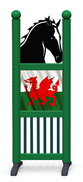Wing > Combi Horse Head > Welsh Flag