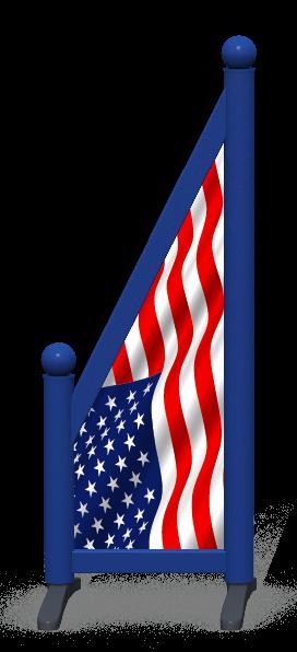 Wing > Sloping Printed > American Flag