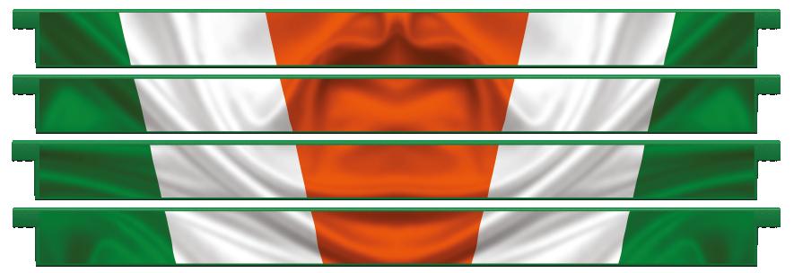 Planks > Straight Plank x 4 > Irish Flag
