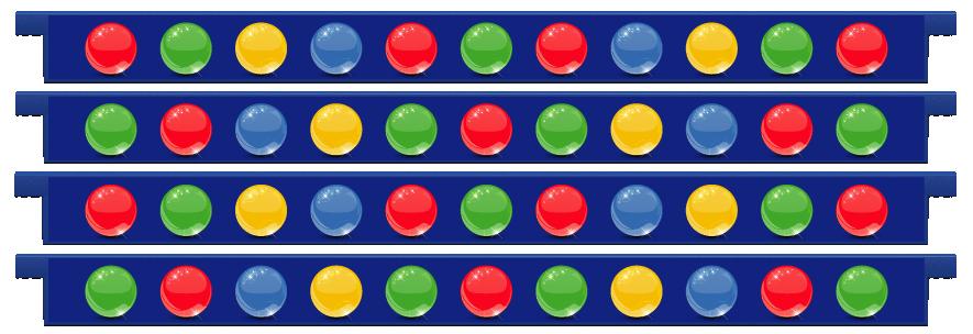 Planks > Straight Plank x 4 > Spheres