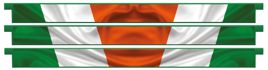 Planks > Straight Plank x 3 > Irish Flag