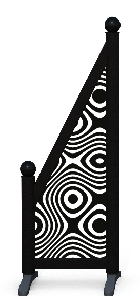 Wing > Sloping Printed > Twisted Circles