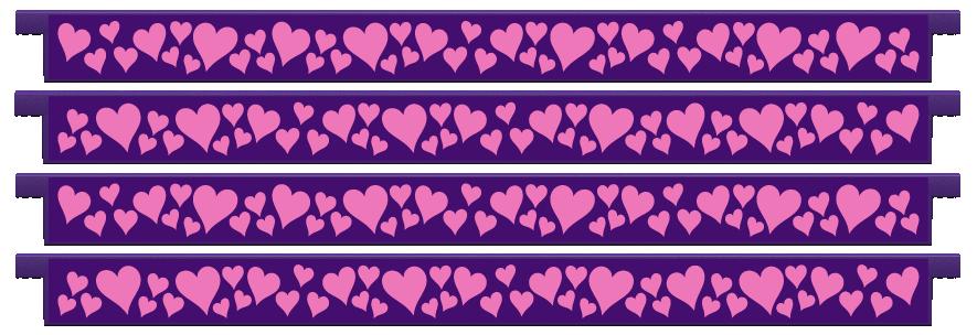 Planks > Straight Plank x 4 > Hearts