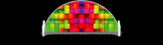Fillers > Half Round Filler > Rainbow Cubes