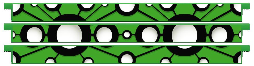Planks > Straight Plank x 3 > Ladybird Spots