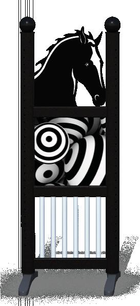 Wing > Combi Horse Head > Striped Circles