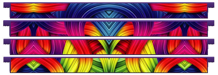Planks > Straight Plank x 4 > Rainbow Ribbons