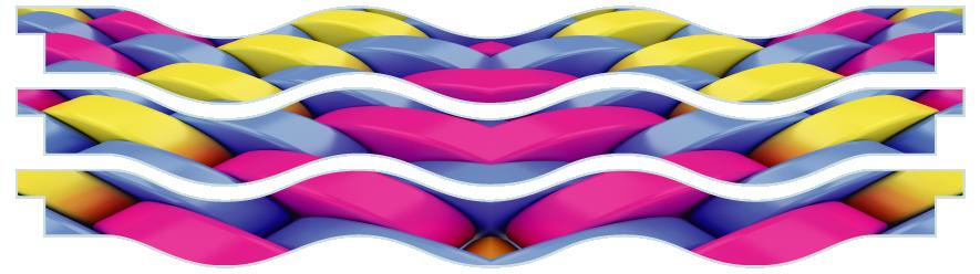 Planks > Wavy Plank x 3 > Basket Weave