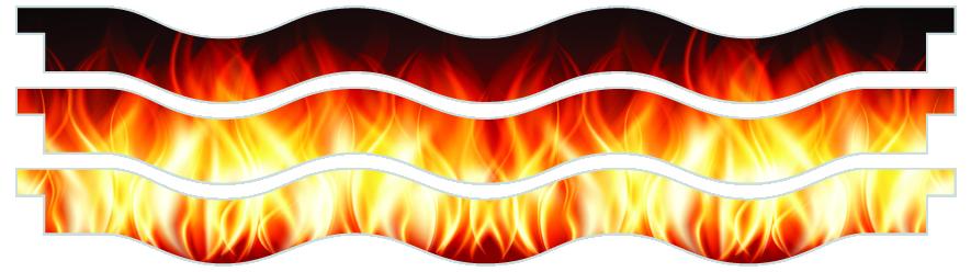 Planks > Wavy Plank x 3 > Fire