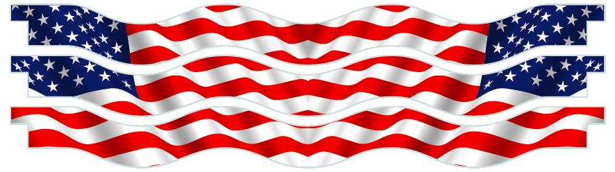 Planks > Wavy Plank x 3 > American Flag