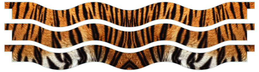 Planks > Wavy Plank x 3 > Tiger Skin