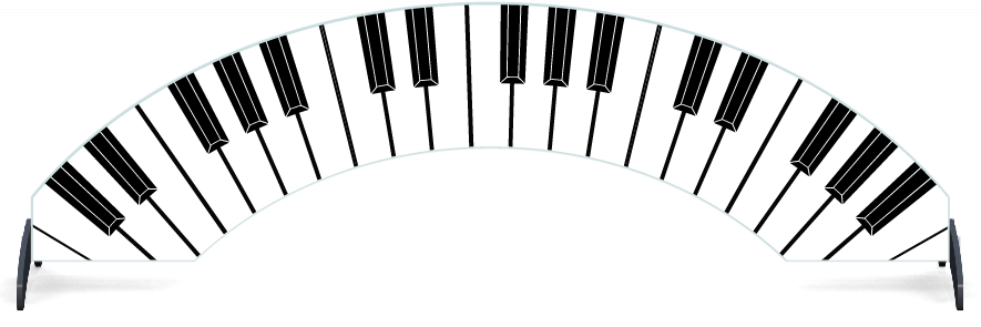 Fillers > Arch Filler > Piano Keys