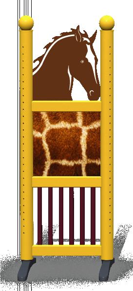 Wing > Combi Horse Head > Giraffe Skin