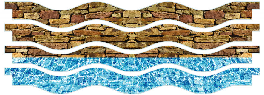Planks > Wavy Plank x 4 > Wall And Pool