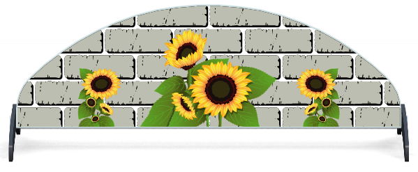 Fillers > Half Moon Filler > Sunflowers