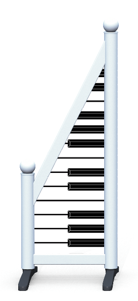Wing > Sloping Printed > Piano Keys