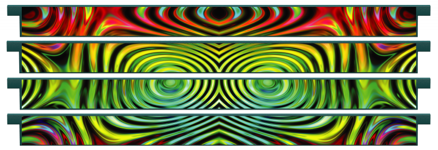 Planks > Straight Plank x 4 > Colourful Ripples