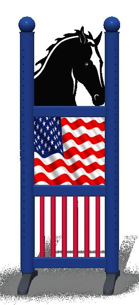 Wing > Combi Horse Head > American Flag